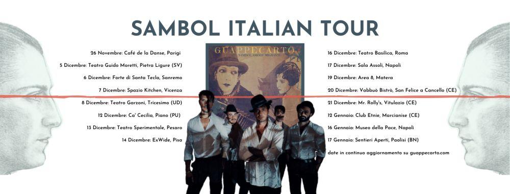 Guappecartò: al via dal 5 dicembre il SAMBOL ITALIAN TOUR
