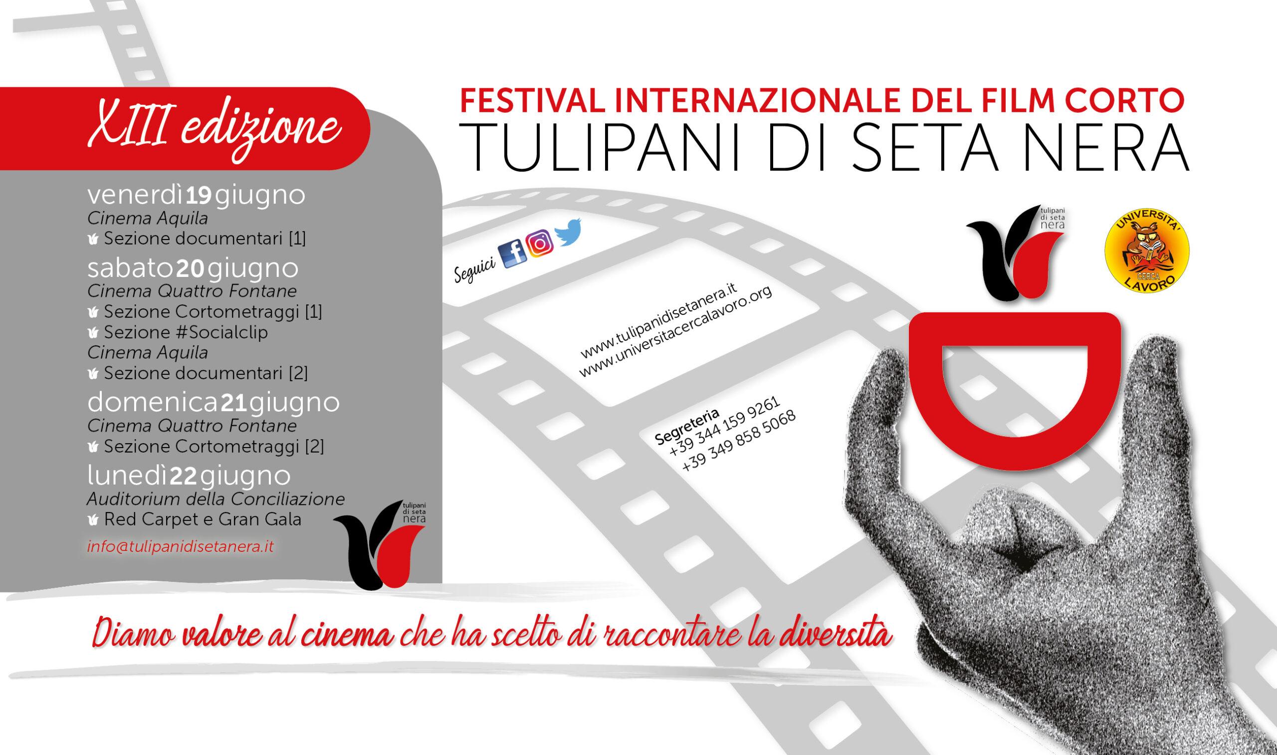 TULIPANI DI SETA NERA, rinviate le date della XIII edizione: appuntamento dal 19 al 22 giugno