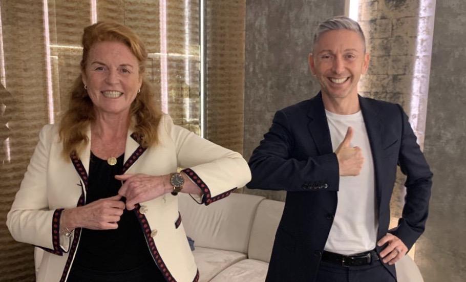 Sarah Ferguson incontra a Roma Gianluca Mech. Progetti in vista?