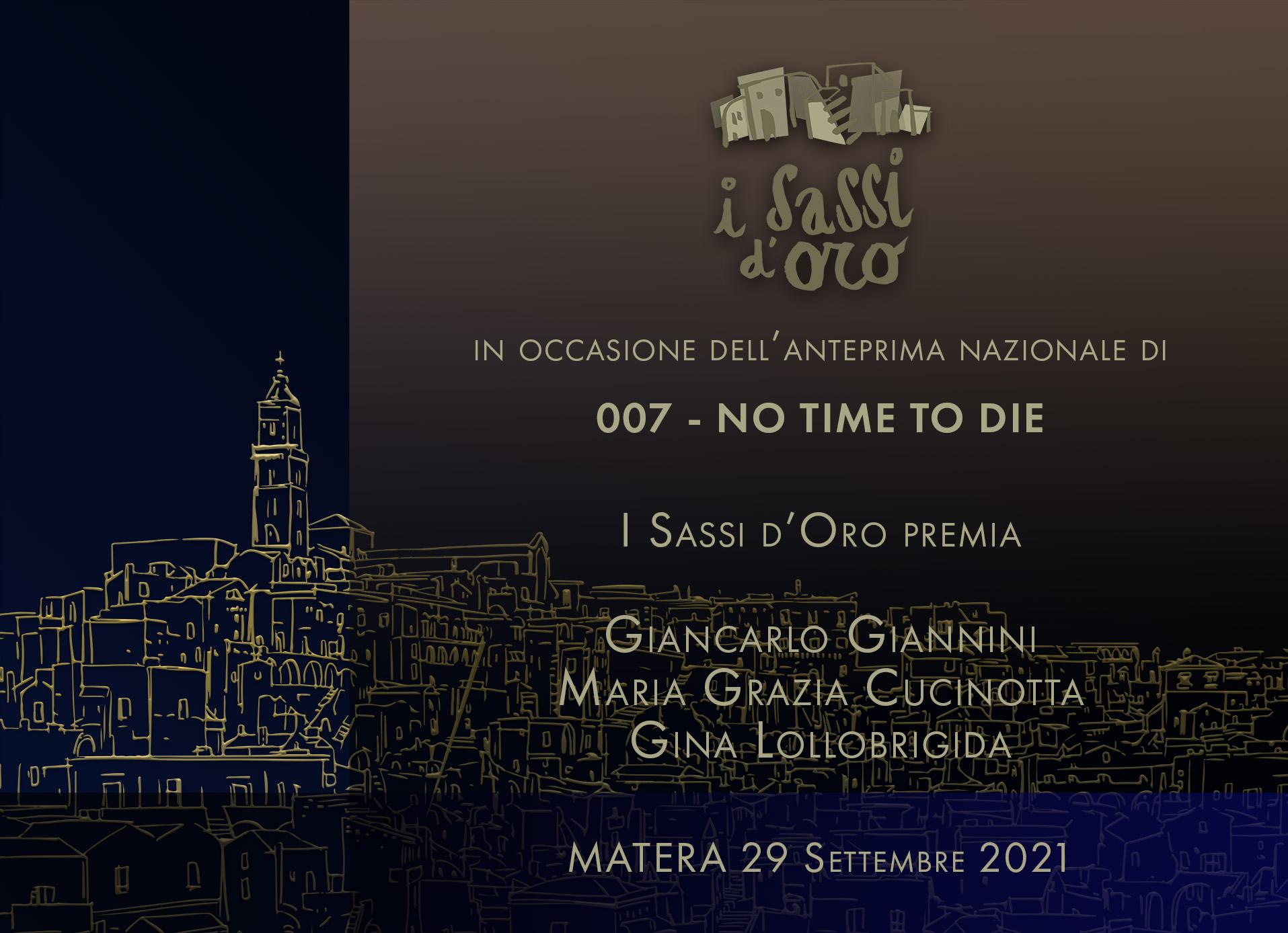 """""""I Sassi d'oro 2021"""": premi a Giancarlo Giannini, Maria Grazia Cucinotta e Gina Lollobrigida"""